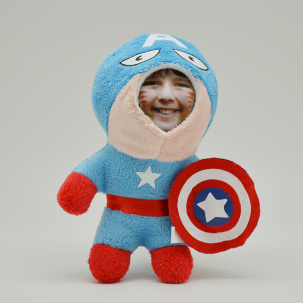 3D FACE Doll Captain America